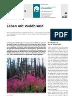 Leben mit Waldbrand - WSL Merkblatt für die Praxis