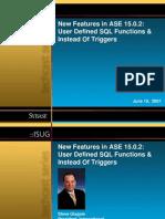 Sybase User Defined SQL 061907
