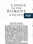 Karl Barth - The Epistle to the Romans