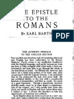 Karl Barth - The Epistle to the Romans