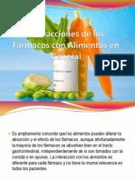 Interacciones de los Fármacos con Alimentos en General