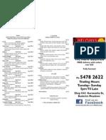 delivery menu 2011