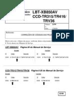 CCD-TR315,TR416, TRV36 correção código 2399