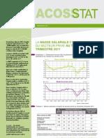 La masse salariale et l'emploi du secteur privé au 3e trimestre 2011 - Acoss