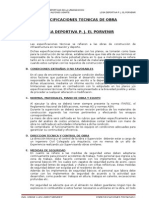 ESPECIFICACIONES TECNICAS PORVENIR