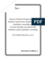 Selected Payments to MLAs 2010 11