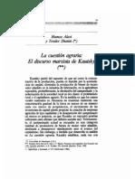 Cuestion Agraria, Discurso Marxista de Kautsky