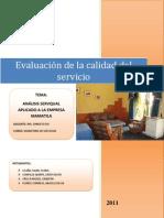 APLICACIÓN DEL MÉTODO SERQUAL AL HOTEL MAMATILA