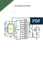 Timbre electrónico con CD4017
