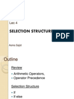 Lec4- Selection Structures