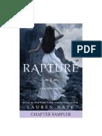 Prologo y primer capitulo de Rapture