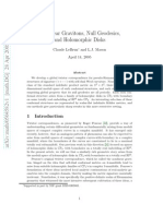 Claude LeBrun and L.J. Mason- Nonlinear Gravitons, Null Geodesics, and Holomorphic Disks