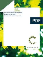 Cambium Interim Report 2008