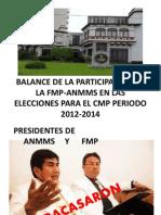 PARTICIPACIÓN FMP-ANMMS ELECCIONES CMP 2012-2014