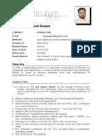 Rashid's CV, (Admin, Secretary), Saudia