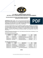 2012 Blanchard and Davis Nominee Release