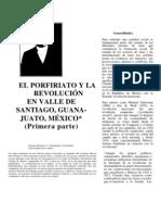 El Porfiriato y la Revolución en Valle de Santiago Guanajuato