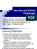 Security Ethical Challenges MIS