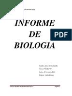 INFORME DE BIOLOGIA