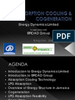 Absorption Cooling and on - Energy Dynamics Limited