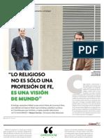 Entrevista al teologo Rafael Luciani y reseña de la editorial Convivium Press en El Librero, Colombia