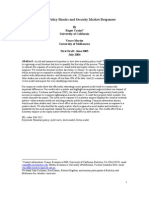 Monetary Policy Shocks and Security Market Responses