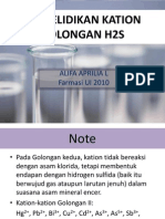 Penyelidikan Kation Golongan II (H2S)