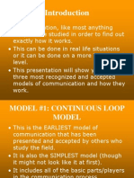 Communication Models Presentation 2154