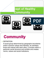 Concept of Healthy Community -1