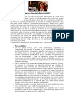 Programa Consejería Estudiantil 2012