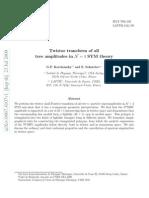 G.P. Korchemsky and E. Sokatchev- Twistor transform of all tree amplitudes in N = 4 SYM theory