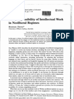Bronwyn Davies - The Impossibility of Intellectual Work in Neoliberal Regimes