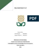 Transistor P-n-p (Anggara W D_08620012 & Aulia R_08620003)