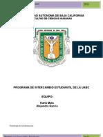 PROGRAMA DE INTERCAMBIO ESTUDIANTIL