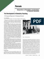 Johnstone 1993 the Development of Chemistry Teaching
