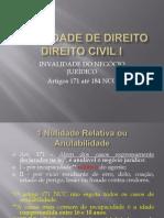 Da Invalidade Dos Negocios Juridicos CIVIL 1