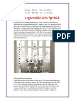 Living ideas from the north – Scandinavian style of living - http://ourgreenlife.info/?p=824