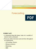 Forecasting Chpater 2 for Mech 4th b Tech Gokul