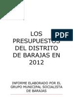 Los Presupuestos Del Distrito de Barajas en 2012