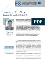 Guerre et Paix - Note d'analyse Géopolitiques n°46