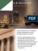Wynne and Wynne LLP - Attorneys At Law Houston TX