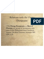 Relations With the Orang Dampuans