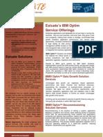 Estuate IBM Optim Service Offerings