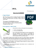 Kleemann NewsFax/Mail (December 2011) english version