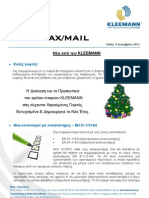 Kleemann NewsFax/Mail (December 2011) greek version