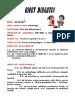 Proiect de Lectie 03.03.2011 Felicitare Pentru Mama