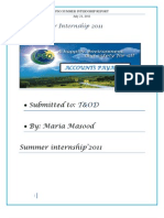 Pso Summer Internship Report
