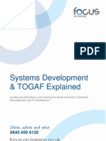 Systems Development and TOGAF - Including Training Options