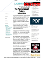 Th Psychology of Torture 1995