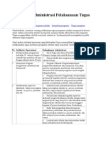 Perangkat Administrasi Pelaksanaan Tugas Pengawas